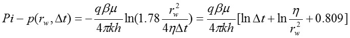 equation for the radial flow regime